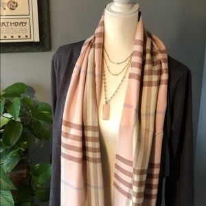 Accessories - 💯 Cashmere Pink Plaid Scarf